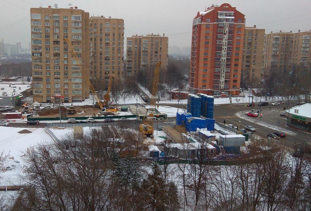 Что строят на пересечении ул. Удальцова с ул. Коштоянца